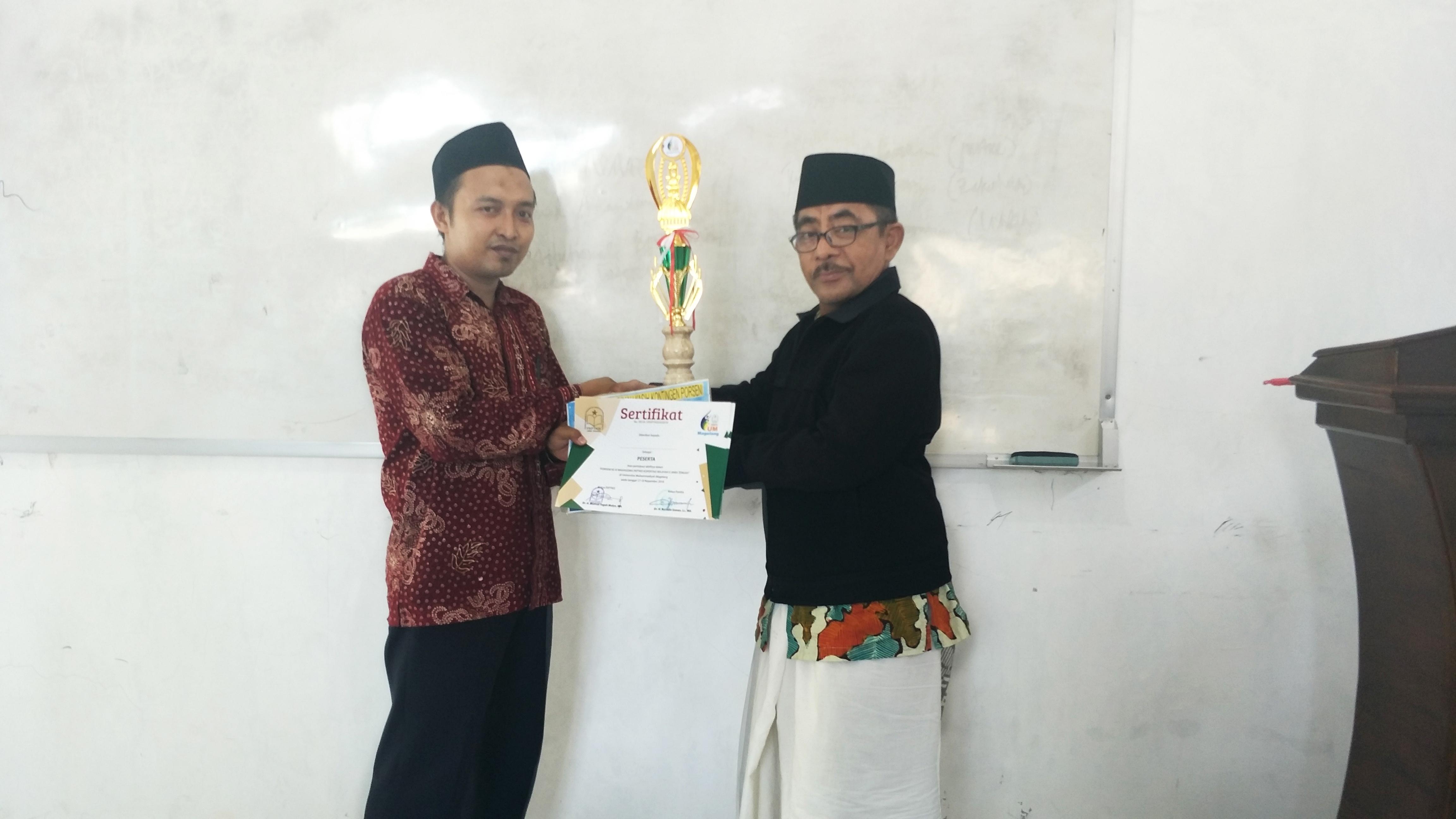 Juara II Baca Kitab tingkat PTKIS di UNMUH Magelang 2018