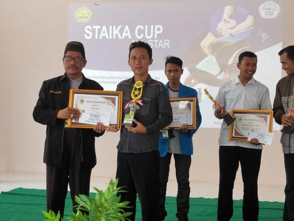 Juara I Tenis Meja Tunggal Putra (STAIKA CUP)