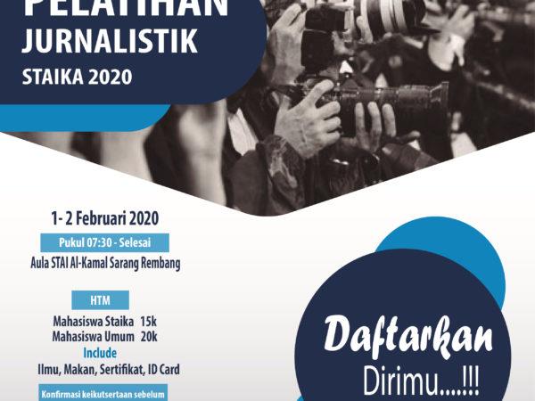 Info Pelatihan Jurnalistik Staika 2020